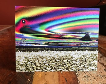 Psychedelic Beach Note Card