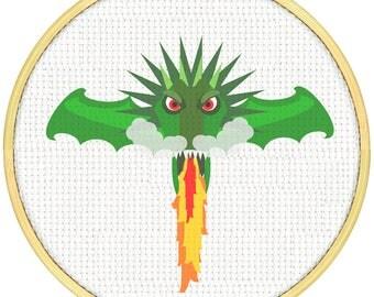 Dragon Cross Stitch Pattern, Cross Stitch PDF, Cross Stitch pattern, Dragon Head Cross Stitch Cross Stitch Super Dragon Dragon Dragon