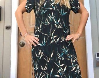 Long bird of paradise dress