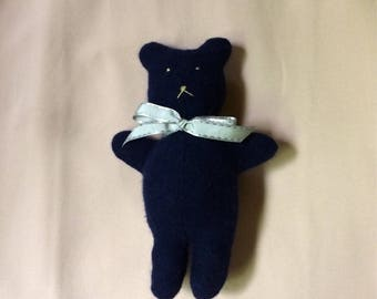 Handsewn Cashmere Teddy Bear, made from repurposed sweater