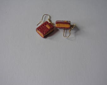 small earrings polymer clay book