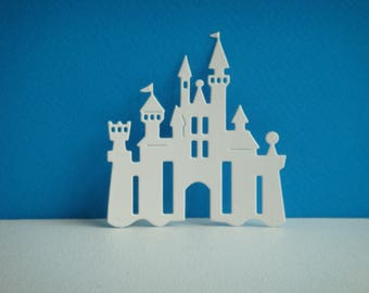 Cut paper white design for scrapbooking and card Castle