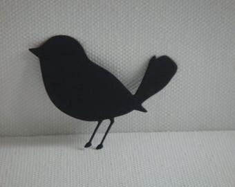 Cut black design for scrapbooking and card paper bird