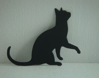 Cut paper design for creating black cat