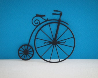 Cut black old bicycle for scrapbooking and card