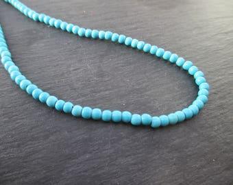Howlite: 25 mm round beads 4 - blue gemstones