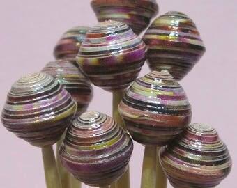 """Paper beads """"Miriam"""" handmade, unique designs."""