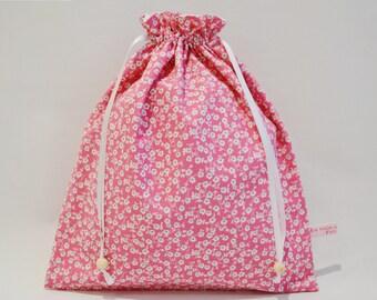 Large DrawString lingerie bag - range chaussetts - clothes bag