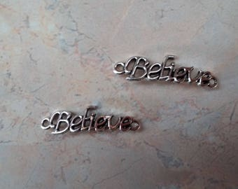 """""""Believe"""" connectors, """"believe"""" silver plated new"""