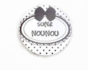 "Pocket mirror - mirror bag ""Super nanny"" nanny/nanny gift"