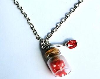 vial necklace fruity fimo Strawberry