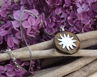 Tiger eye donut pendant and sunshine