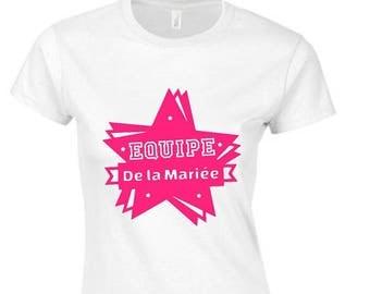 Personalized team bride bachelorette party T-shirt