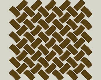 Braiding. Weft weave. Mat.  (Ref 213) adhesive vinyl stencil