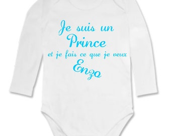Bodysuit I'm a prince... personalized with name