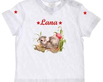 baby mouse personalized with name t-shirt