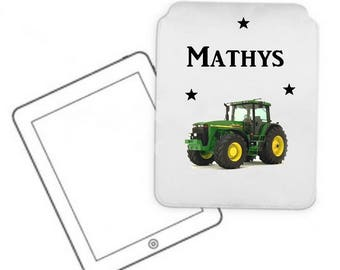 Cover for tablet pc tractor personalized with name