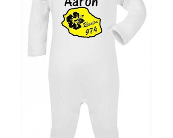 Personalized with name meeting baby pajamas