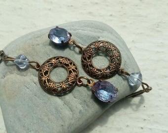 Baroque Earrings: light Amethyst