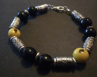 """Nature and metal"" bracelet"