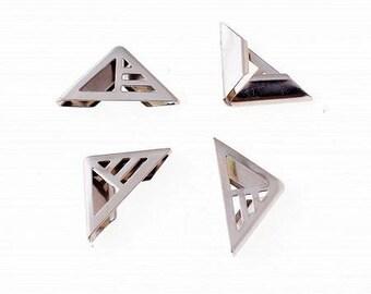 10 beautiful embellishment 16 * 23mm silver metal corners