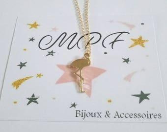Gold Flamingo necklace