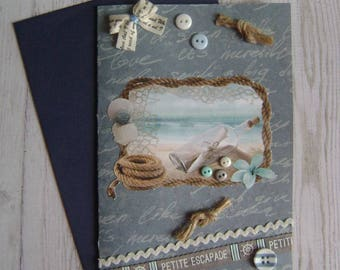 The cards to give the sea theme