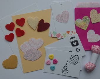 Set of 50 hearts, a bundle of love themed surprises