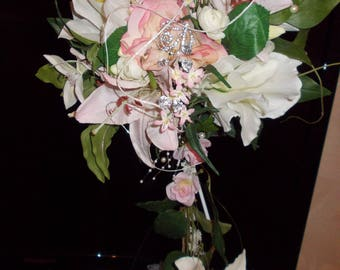 vintage pink and white bridal bouquets romantic