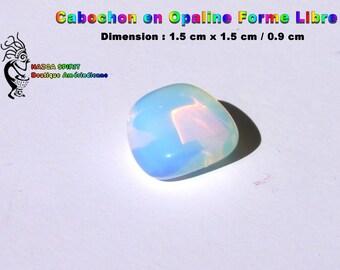 Cabochon Opal Opalescente of irregular shape of 1.5 cm x 1.5 cm / 0.9 cm - item #1