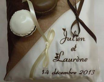 Macarons theme wedding ring bearer pillow