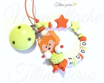 """wooden pacifier ~ Fox """"Hugo"""""""