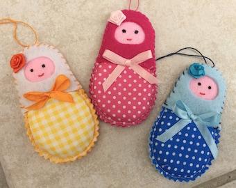 set of 3 nesting dolls a scent made felt unique Lavender sachet, scented Potpourri sachet