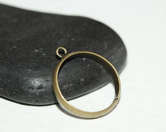 Set of 10 blank ring with 1 BRONZE rings