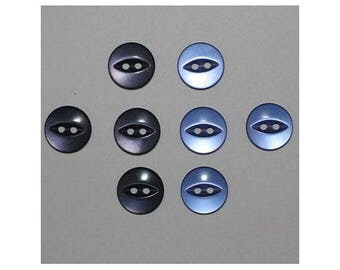 40 x buttons basic 14 mm 2 holes set E - 000803