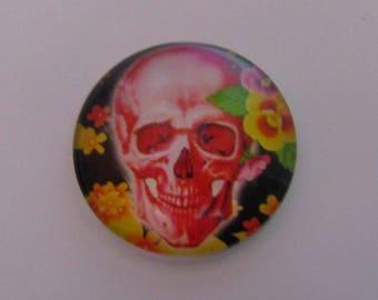 glass cabochon theme skull 25mm