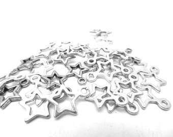 78 charms star silver-plated 1.3 cm long by 1 cm wide