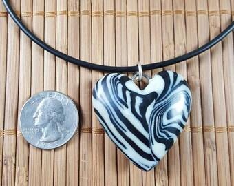 Zebra Stripe Heart #1