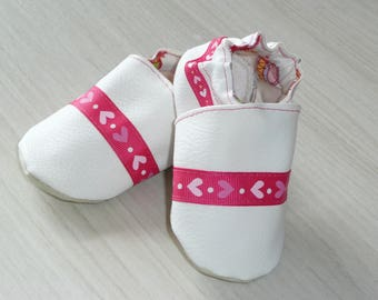 Cozy slippers pink and white