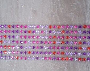 Pink red Purple Star rhinestones