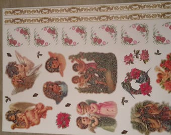 Flowers and Angels stickers decals