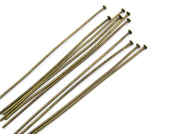 Package includes 100 50 mm flat head nails