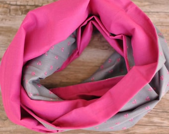 Snood gray and Pink for girl