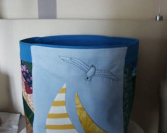 tidy patchwork on the sea theme