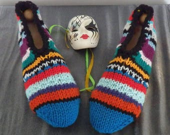Slippers adult woman 38/40, multicolor stripes