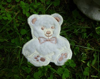 Applique patch iron Teddy bear pattern