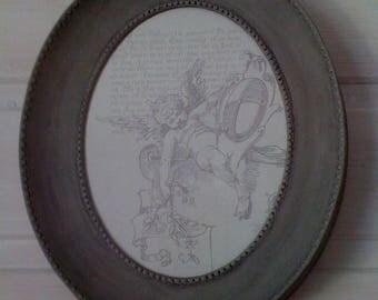 """Angel"" weathered old frame"