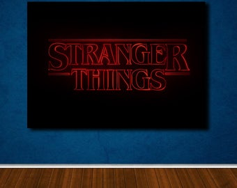 Stranger Things poster canvas wall art, wall decor, home decor, print A1 A2 A3 A4 sizes, big framed poster, gift for him, birthday gift