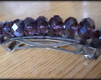 Purple Pearl hair clip