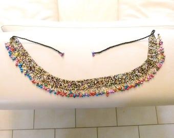 Woven Native American style beadwork belt